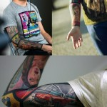 GTA Comics tattoo sleeve