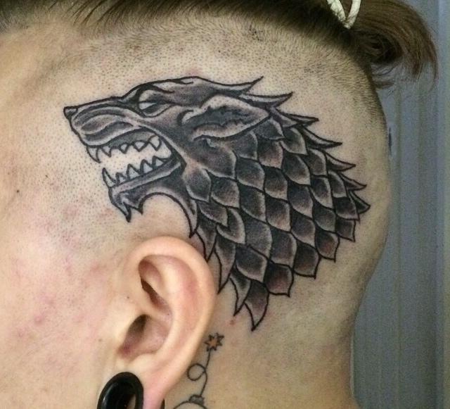 game od thrones wolf head tattoo design best tattoo ideas gallery. Black Bedroom Furniture Sets. Home Design Ideas
