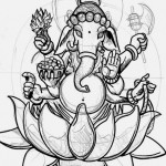Ganesh Sketchy tattoo sketch