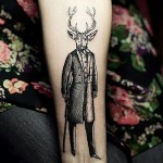 Gentleman Deer Graphic tattoo idea