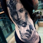 Girl Expressions Realistic tattoo by Jak Connolly
