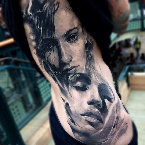 432d8db9c Girl Expressions Realistic tattoo by Jak Connolly | Best Tattoo ...