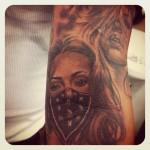 Girl Gang Chicano tattoo