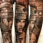 Gladiator Girl Chicano tattoo