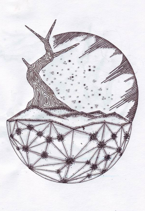 Graphic Planet Tree tattoo sketch