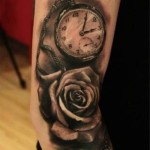 Graphic Watch and Rose tattoo by Led Coult