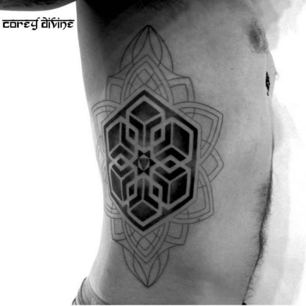 Great Mandala Blackwork tattoo by Corey Divine