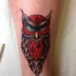 Groom Owl New School tattoo by Marked For Life