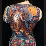 Growling Tiger Japanese tattoo by Chapel tattoo