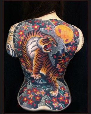 Growling Tiger Japanese tattoo by Chapel tattoo