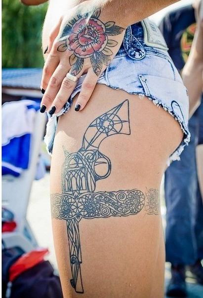 Gun Stocked Grater Graphic tattoo idea