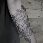 Hand Print Flower tattoo Roses