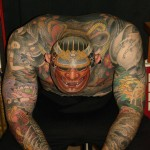 Hannya Japanese head tattoo design