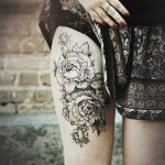 Hip Print Flowers tattoo
