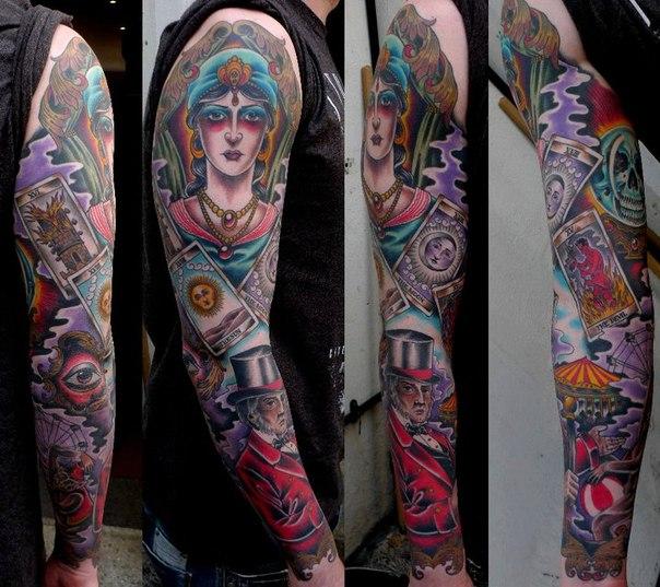 I'll Tell Your Destiny tattoo sleeve