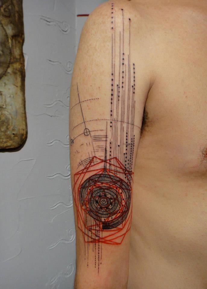 Incomplete Mandala Trash Polka tattoo