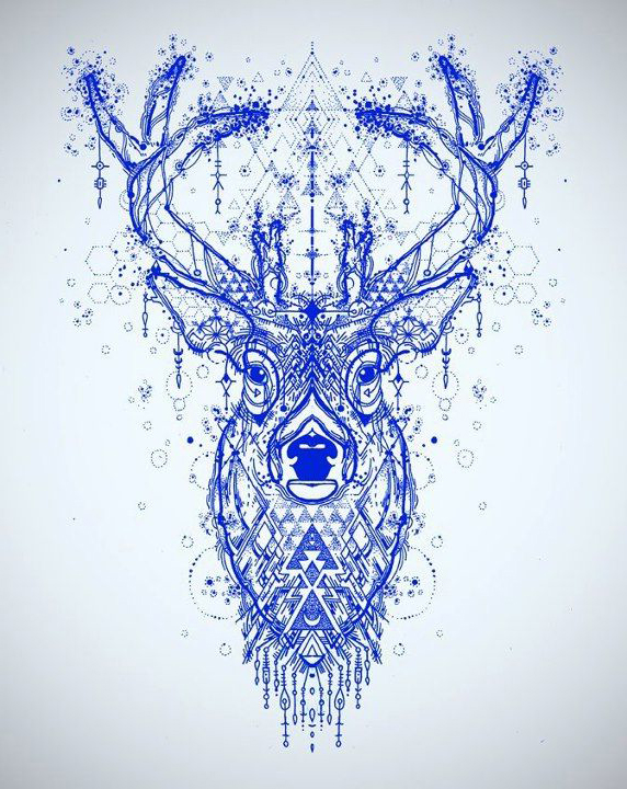 Incredible Deer tattoo sketch