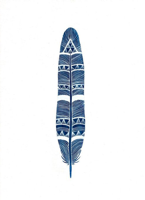 Indian Feather tattoo sketch