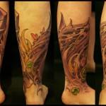 Leg Armor Organic tattoo