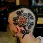 Lemon Flower Head tattoo