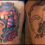Lighthouse Cover Up tattoo design