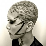 Lightning Mandala head tattoo design