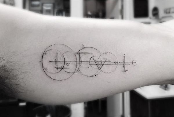 Lines and Circles tattoo by Dr Woo