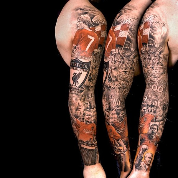 Liverpool Football Club tattoo sleeve