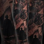 London Killer Realistic tattoo by Drew Apicture