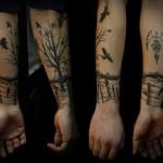 Lone Landscape Graphic tattoo idea