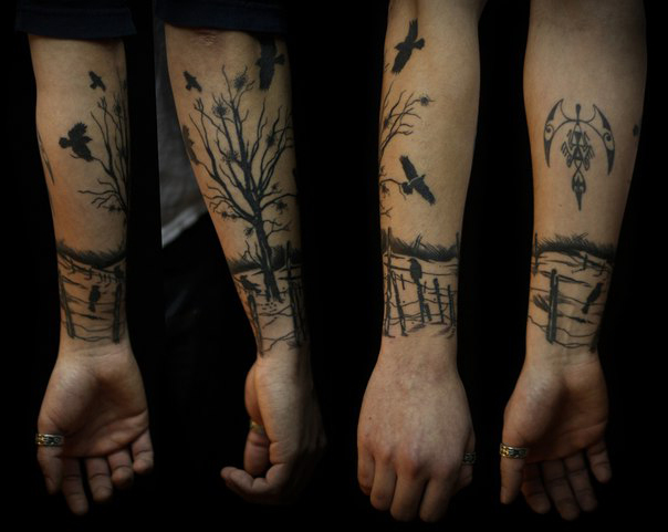 Lone Landscape Graphic tattoo idea