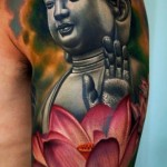 Lotus Buddha Religious tattoo