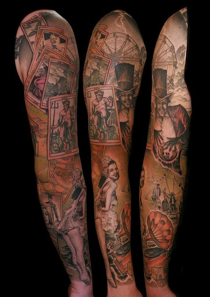 Magic Amusement Park tattoo sleeve