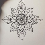 Mandala Dotwork tattoo sketch