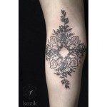 Mandala Shape Flowers tattoo by Hidden Moon Tattoo