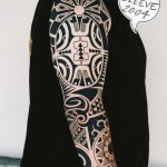 Maori Arrows tattoo sleeve