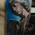 Marble Angel tattoo by AD Pancho