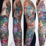 Marvel Comicbook Page tattoo sleeve