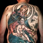 Mary and Son of God Religious tattoo