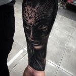 Masquarade Mask Realistic tattoo by Drew Apicture