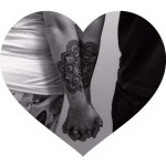 Dotwork Matching Couple tattoo by Corey Divine