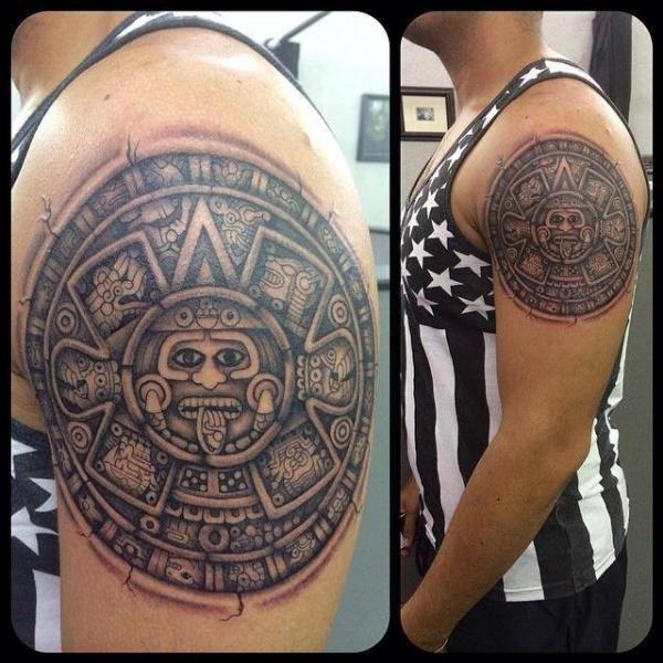 Maya Callendar Shoulder tattoo by Last Angels Tattoo