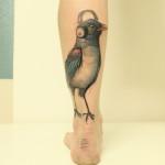 Meloman Bird tattoo by Jan Mràz
