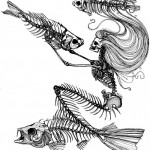 Mermaid Skeleton tattoo sketch