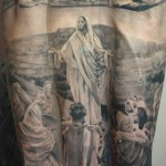 Messiah and Apprentice Graphic Religious tattoo