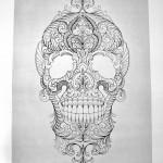 Muerte Skull tattoo sketch