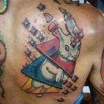Mushroom Head Rabbit tattoo by Anthony Ortega