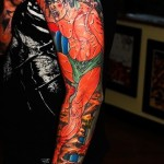 Wounded Japanese Man tattoo sleeve