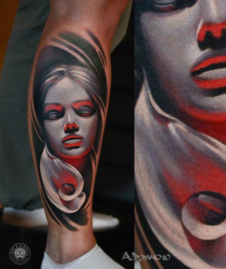 Near the Fire tattoo by AD Pancho