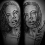Neck Lock Girl Realistic tattoo by Westfall Tattoo